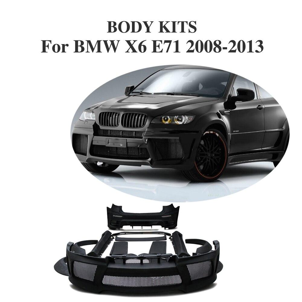 Frp black primer car accessories bumper guard body kits for bmw x6 e71 2008 2013