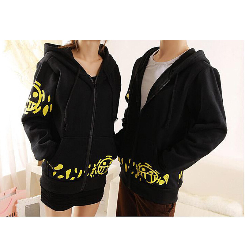 Hot Sale,2018 New Japanese Anime One Piece Trafalgar Law Cosplay Costume Black Trafalgar Law Hoodie Jackets Coat,Free Shipping