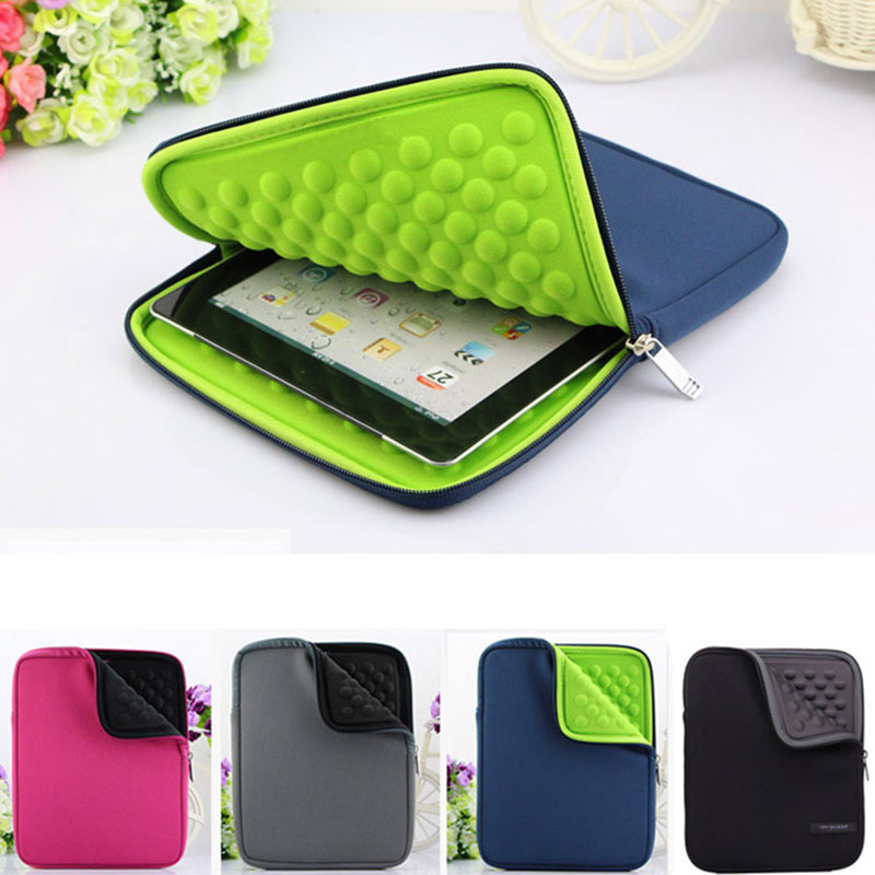 все цены на Fashion Waterproof EVA Liner Foam Zipper Laptop Sleeve for Apple IPAD 8 10 Inch Tablet Case Cover For IPAD Air Protective Case
