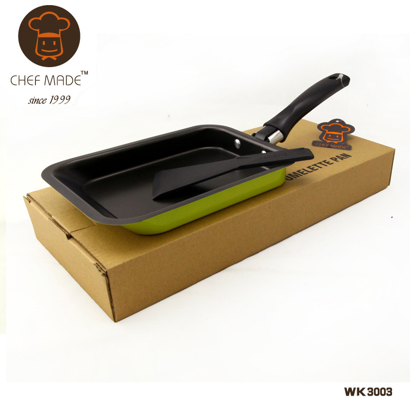 Newest Plancha Omelette Pan Cooking Tools Non-stick Frying Pan Mini Pot Japanese Style Small Fry Pans Square CF006