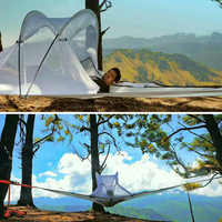 SKYSURF Camping Hanging Tree Tent 3-4 Persons Ultralight Triangle Suspension Hanging Camping Tent  Portable Hammock Tent
