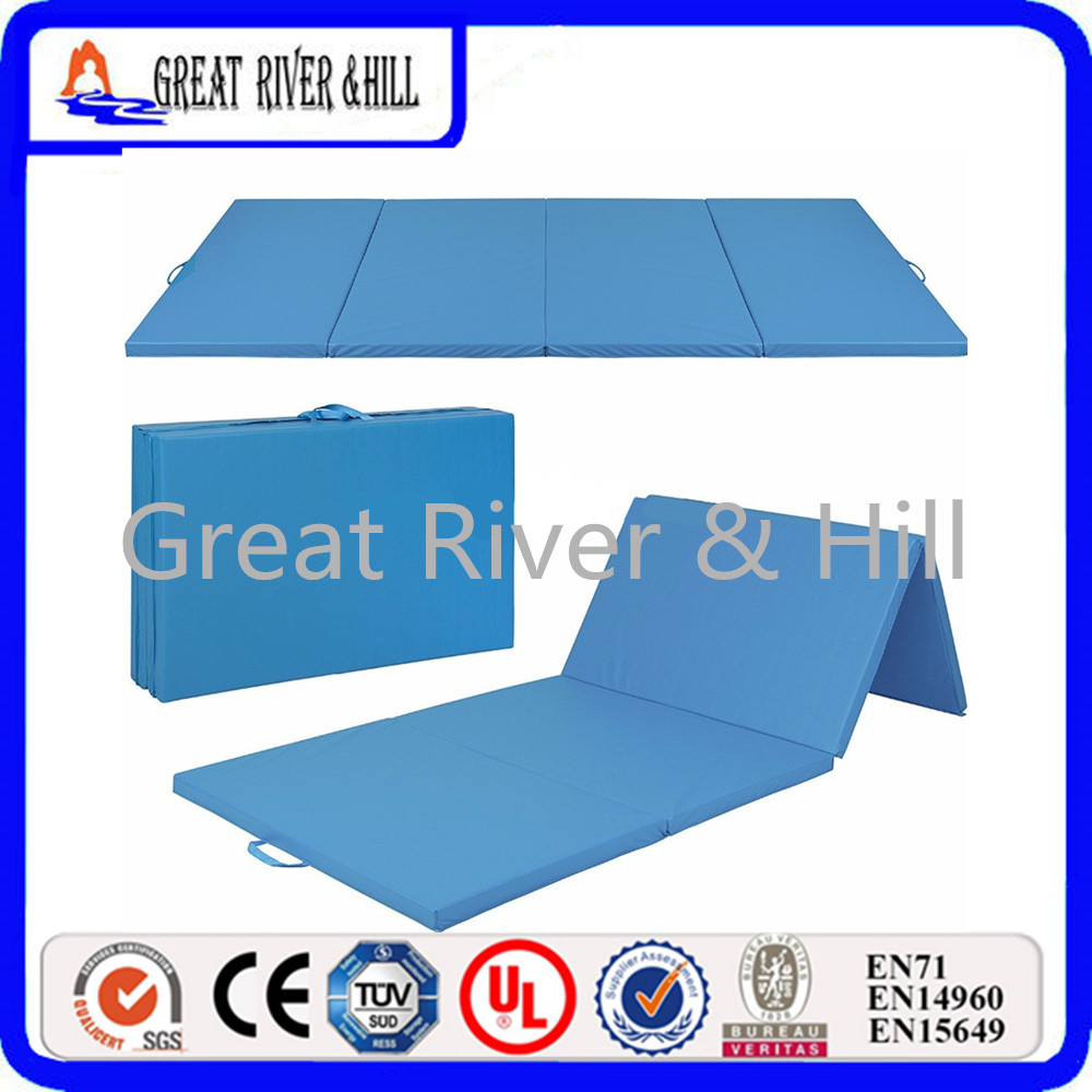 Great River Hill Thick Folding Panel Gymnastics PU Elastic Yoga Mats Pad Fitness Lose Weight Exercise mats for indoor outdoor