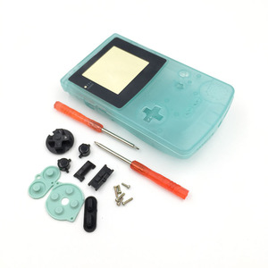 Image 4 - Plastic Luminous Housing Shell Fluorescent Case For GBC Gameboy Color Glow Blue Green Color Case Cover