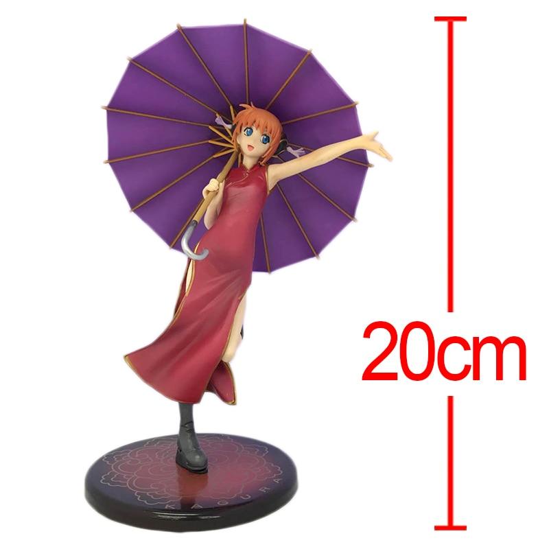 C&F GINTAMA Kagura Anime Action Figure Kagura With Purple Umbrella 20 CM Style Collectible PVC Model Figures Toys 3d ручка feizerg f 001 purple