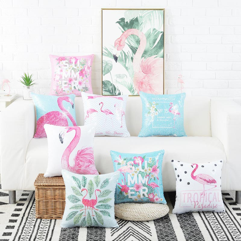 Aliexpress Buy Sequin Cushion Cover Polyester Cotton