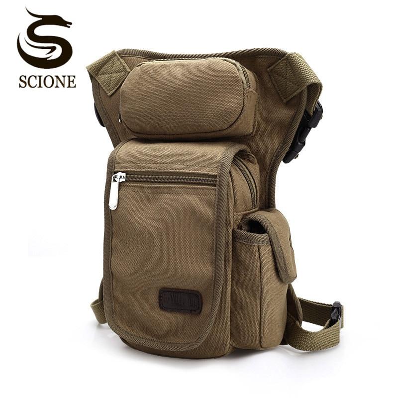 New High Quality Multifunction Canvas Men Army Green Black Brown Belt Bag Mens Waist Pack Leg Bag for Men Daily Use JXY528 все цены