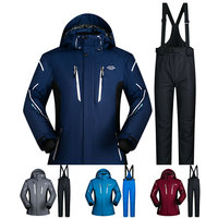 Ski Suit Men Winter 2018 Waterproof Windproof Thicken Warm Snow Clothes Men Ski Sets Jacket Skiing And Snowboarding Suits Brands