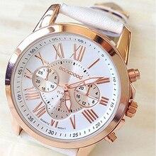 Women's Geneva Fashion Roman Numerals Faux Leather Band Quartz Wrist Watch Gift