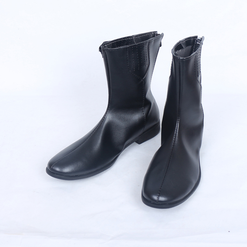 Shin Megami Tensei: Persona 5 Protagonist Joker Cosplay Shoes Kurusu Shou Black Boots Custom Made For Halloween Free Shipping