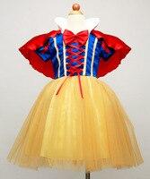 Free Shipping Sweet Purple White Snow Princess Cosplay Girls Halloween Costume For Kids Fancy Dress Children