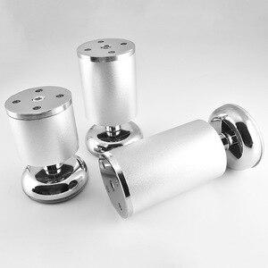 Image 1 - 4 piezas espesar de aleación de aluminio de las piernas de los muebles mesa ajustable gabinetes pies sofá cama gabinete de TV de las piernas de los muebles multi  tamaño