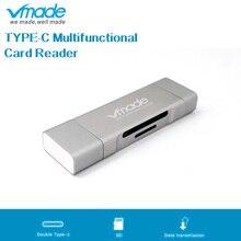 Vmade высокоскоростной USB 2,0 мульти считыватель карт памяти USB C концентратор type-C Android Micro OTG мини кардридер для SD/TF компьютера