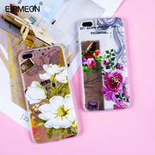 Phone Csae For iPhone 8 Plus Silicone Soft TPU 3D Relief Colorful Floral Back Cases For iPhone 7 6S 6 XS XR XS Max 5 5S SE Capa цена и фото