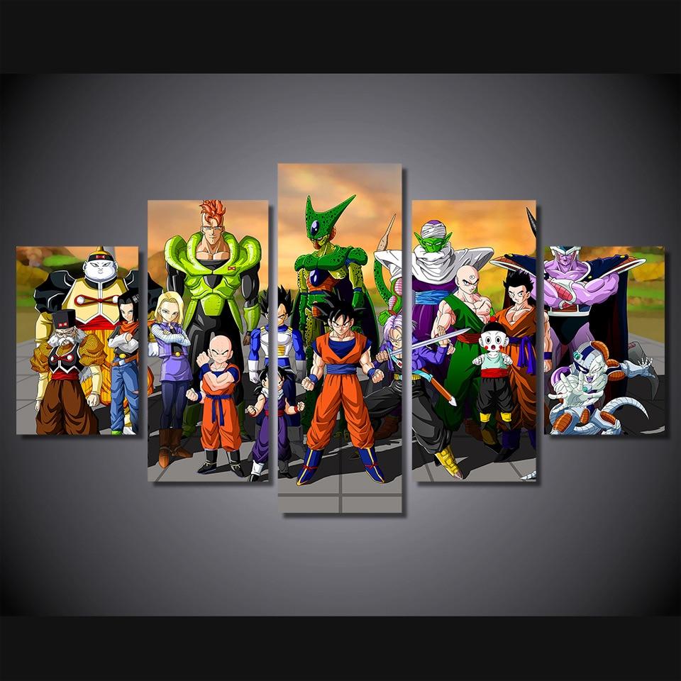5 Teile/satz Gerahmte HD Gedruckt Dragon Ball: Xenoverse 2 Wandkunst ...