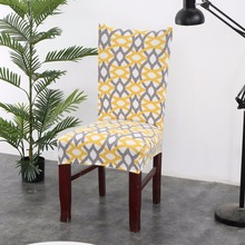 Floral Geometric Chair Cover Print Pattern Spandex Elastic Slipcovers Stretch Dining Hotel Kitchen Chair Covers for Banquet christmas chair covers elk print removable chair cover stretch elastic slipcovers dining banquet chair covers spandex home decor