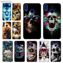SHELI phone shell case cover for Huawei Honor 4C 5X 6 6X 6C 7 7X 7C 7a Pro 8 8X 9 10i Lite 8a flower Skull Lady Man Painted(China)