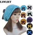 Winter Knitting Wool Hats for Women Pretty Bow Slouchy Beanie Female Fashion Skullies Ski Cap Women Girl Warm Beret Hat A238
