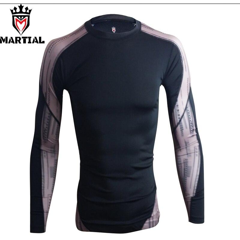 Martial : Fitness Mma Rashguard Bjj Crossfit Gym T Shirt Sport Shirts For MMA / BJJ / Crossfit/Muay Thai/Combat/Kickboxing