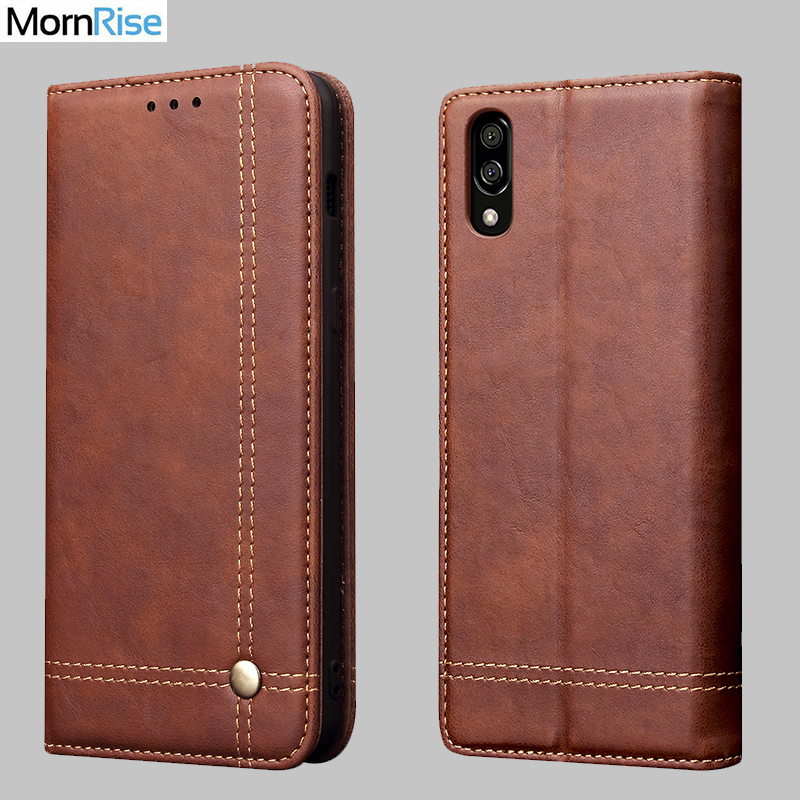 New Vintage Leather Flip Cover For Sony Xperia L3 Wallet Luxury Card Stand Magnet Book Cover Casual Phone Case Fundas