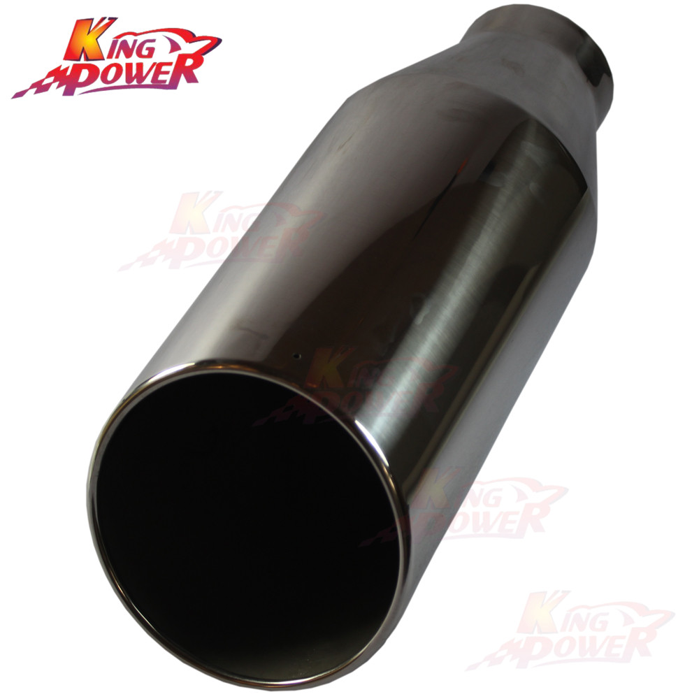 """8/"""" Outlet 5/"""" Inlet Chrome Stainless Steel 15/"""" Long Bolt On Diesel Exhaust Tip"""