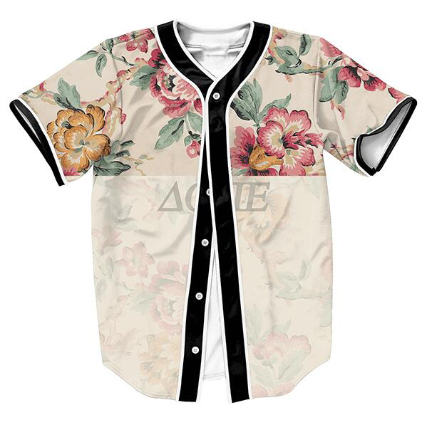 US size Fashion Jerseys Baseball Shirts Men Women Unisex 3D Print Clothes Vintage Flower Dope Top