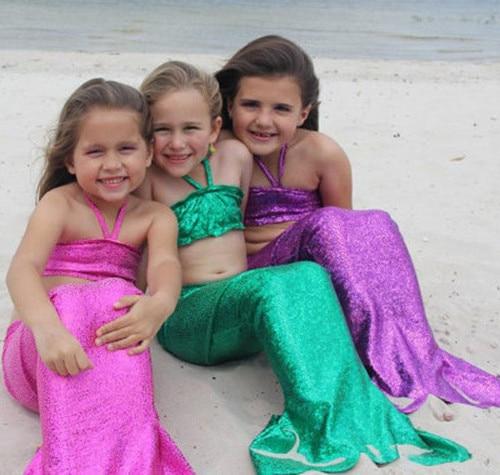 Verde cola de sirena para nadar nadar niños colas sirena