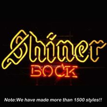 SHINER BOCK TEXAS LONE STAR Neon Sign Bulbs Recreation Garage Store Display Glass Tube Art