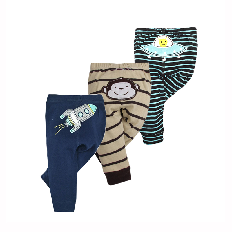 3PCS/LOT Fashion Baby Pants Spring Autumn Kids Clothing Boys Girls Harem PP Trousers Knitted Cotton Newborn Infant Clothing
