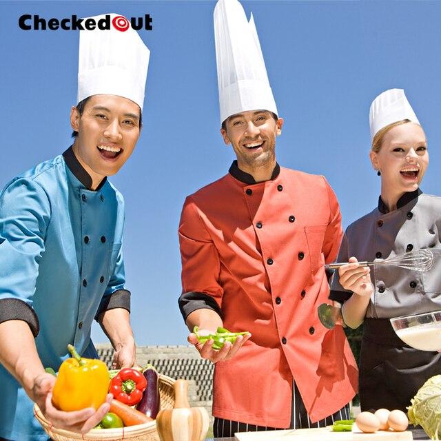 Baru Dijual Panas Hotel Dapur Seragam Lengan Panjang Kerja Chef Rompi Pria Wanita