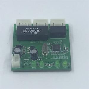 Image 4 - שת 3 יציאות מתג מודול PCBA 4 פיני UTP PCBA מודול עם תצוגת LED בורג חור מיצוב מיני מחשב נתונים OEM מפעל