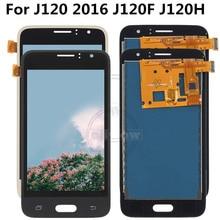 Adjust Brightness FOR For Samsung Galaxy J1 J120 2016 J120F J120H J120M LCD Display Touch Screen Digitizer Assembly все цены