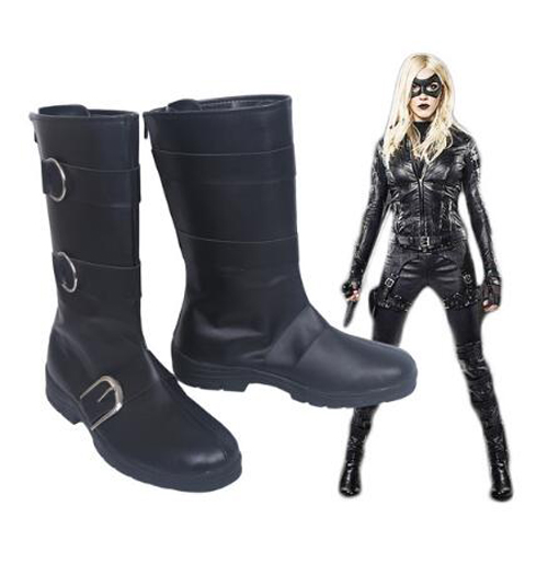 Green Arrow Black Canary Dinah Laurier Lance Assistant District Attorney of Star City Cosplay Boots Shoes Anime Halloween Party
