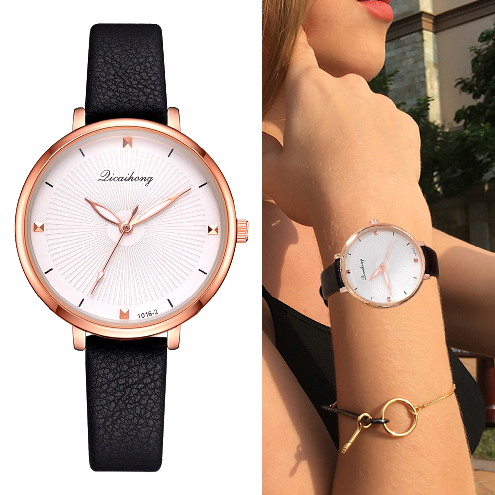 Ladies Wrist Watches 2018 New Women Leather Sport Dress Quartz Clock Watch Luxury Top Brand Bracelet Business Ladies Watch Gift full red sandalwood women s bracelet watches bamboo creative quartz ladies watch wooden handmade dress clock 2018 new best gift