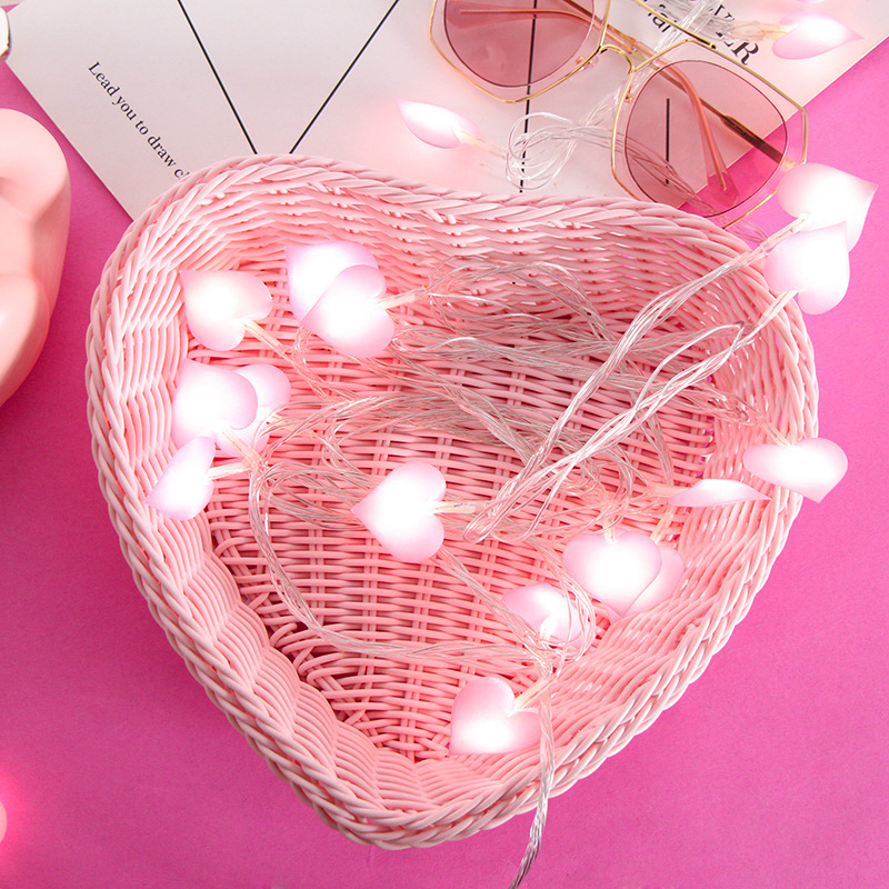 3M 20LED Love Heart String Fairy Lights Waterproof Indoor Outdoor Christmas Garland Garden Wedding Party Valentine's Day Decor