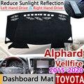 Для Toyota Alphard Vellfire 30 AH30 2015 ~ 2020 Противоскользящий коврик панель управления накладка солнцезащитный коврик аксессуары 2017 2018 2019