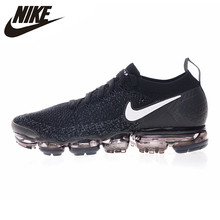 4b4309e6928a Nike AIR VAPORMAX FLYKNIT Men s Breathable Abrasion Running Shoes Black  White