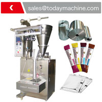 Display panel: Touch screen powder pouch filling sealing and packing machine with auger filler