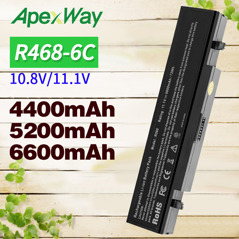 Apexway 11.1V RV520 Battery For SamSung AA PB9NC6B AA PB9NS6B AA PB9NC6W AA PL9NC6W R428 R429 R468 NP300 NP350 RV410 RV509 R530-in Laptop Batteries from Computer & Office