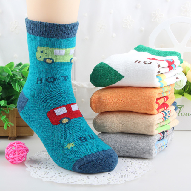 9bf23f1fe 2017 wholesale 5 pairs high quality thick cotton warm children terry thermal  winter socks boys girls kids socks for 3-12 ages