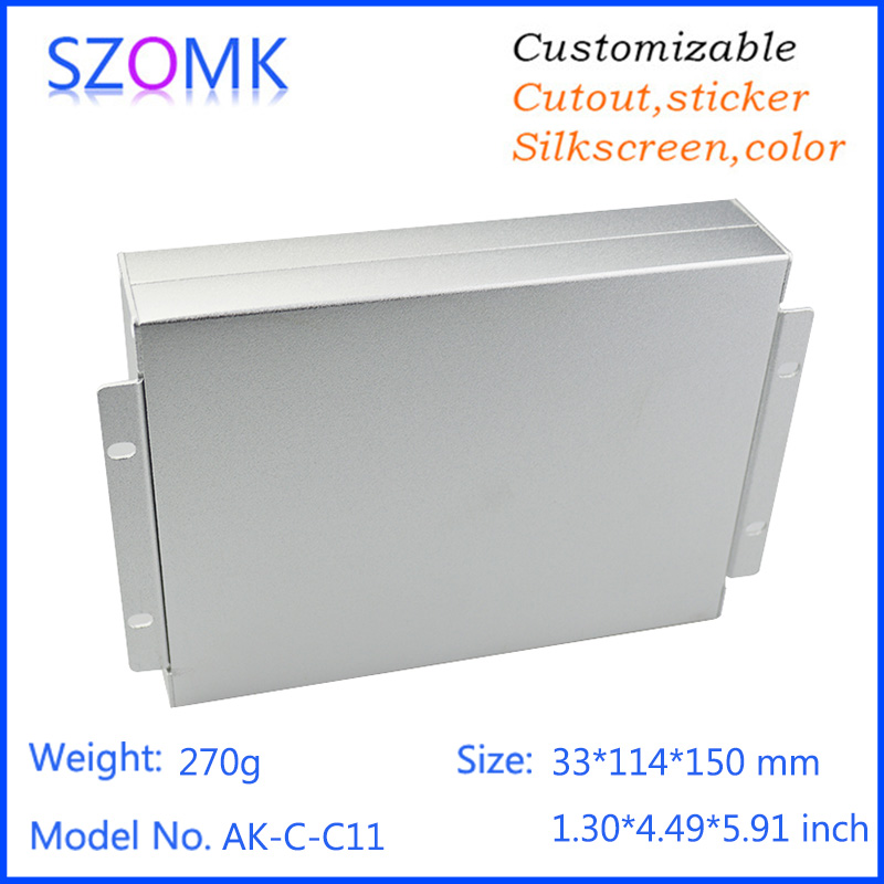 1 pcs, 33*114*150mm szomk electronics aluminum instrument enclosure aluminum project box equipment device outlet enclosure box