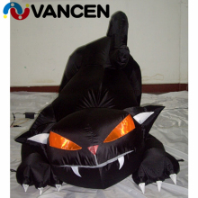 3m high gloomy inflatable black cat for halloween party hot sale advertising
