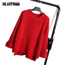 OLGITUM New Fashion Women Knitted Sweater Female Knitted Slim Pullover Ladies Basic Thin Long Sleeve Shirt Clothing SW069