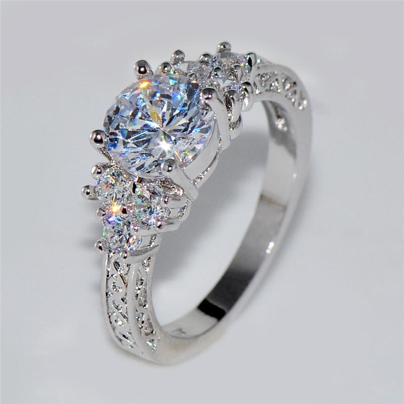 Splendent White Stone Stylish Jewelry WomenMen Wedding