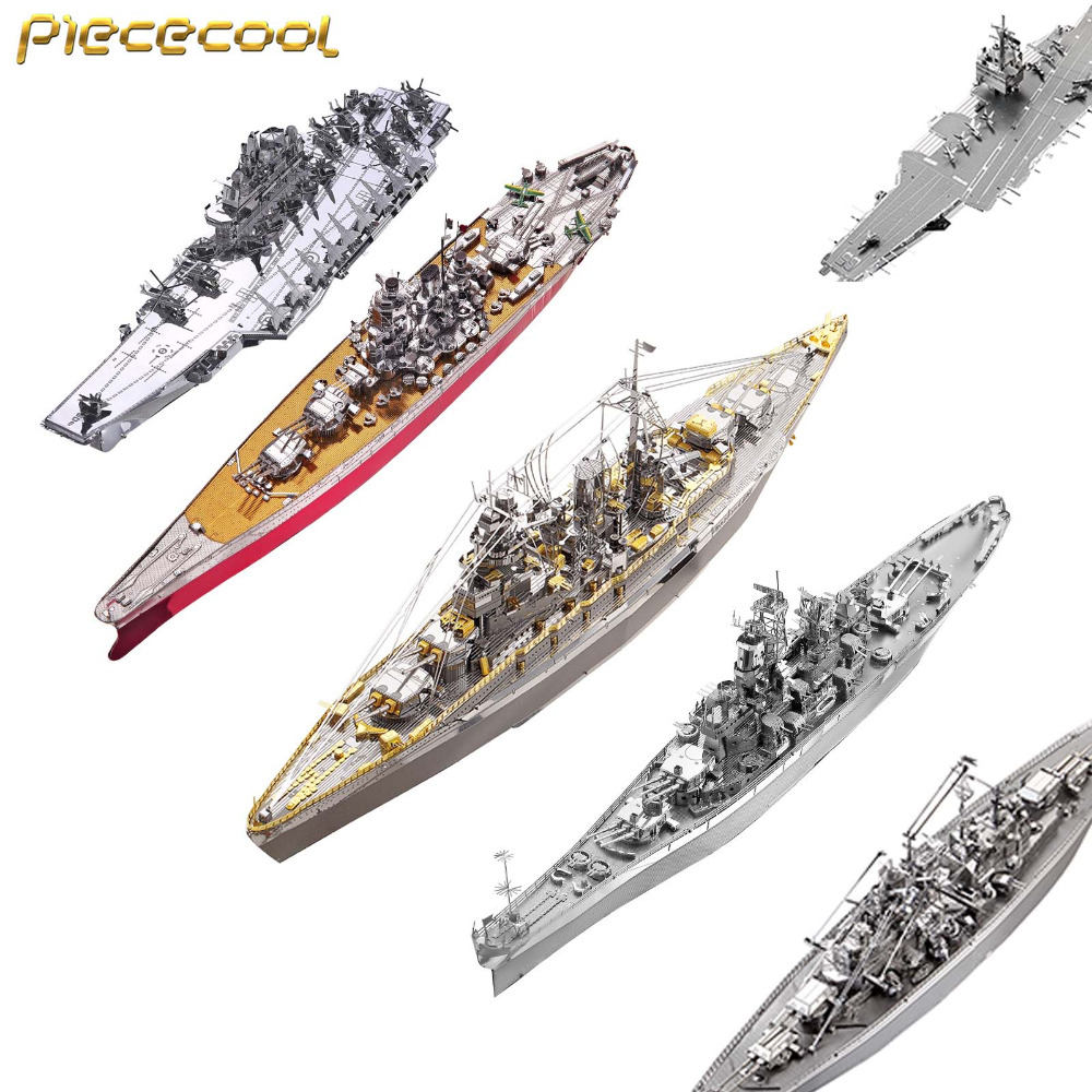 Piececool P091 P096 P084 P083 P056 P101 Battleship 3D Metal Assembly Model Puzzle Creative Toys Children Birthday Gift недорого