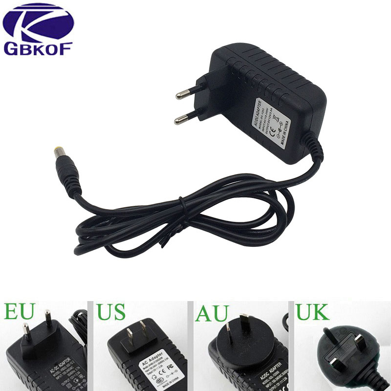 цена на AC 110 220V 240V EU/US/UK/AU plug DC 12V 4A 3A 2A power adapter for led strip light LCD Monitor TV Box Switching Power supply