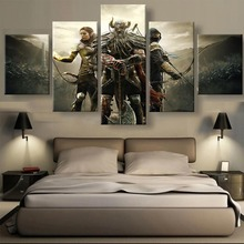 Frame 5 Piece HD Print Large Elder Scrolls Game Painting Canvas Wall Art Picture Home Decoration Living Room