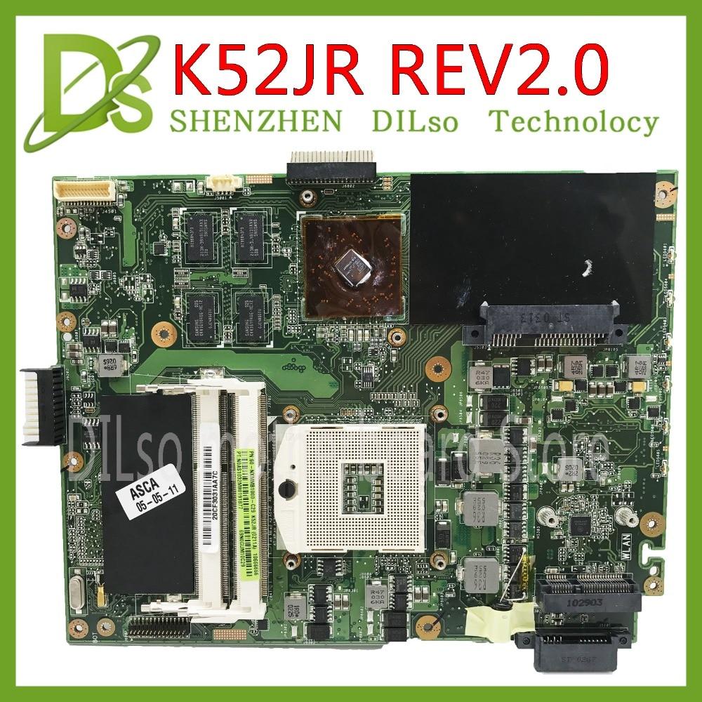 KEFU K52JR für ASUS K52JR K52JC K52JT mainboard REV2.0 motherboard Für ASUS K52JR motherboard integrierte