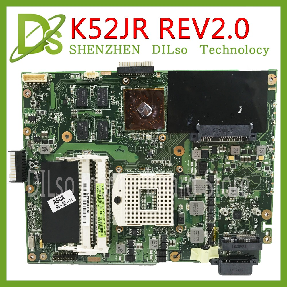 KEFU K52JR for ASUS K52JR K52JC K52JT mainboard REV2.0 motherboard For ASUS K52JR motherboard integrated new k52jr rev 2 3a hd6370 512m motherboard for asus k52jr a52j x52j k52ju k52jt k52jc k52j laptop motherboard 60 n1xmb1000