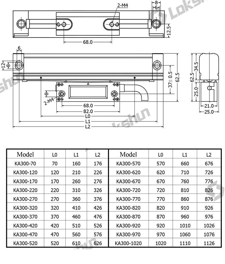 régua deslocamento linear óptico precisão 5um frete grátis