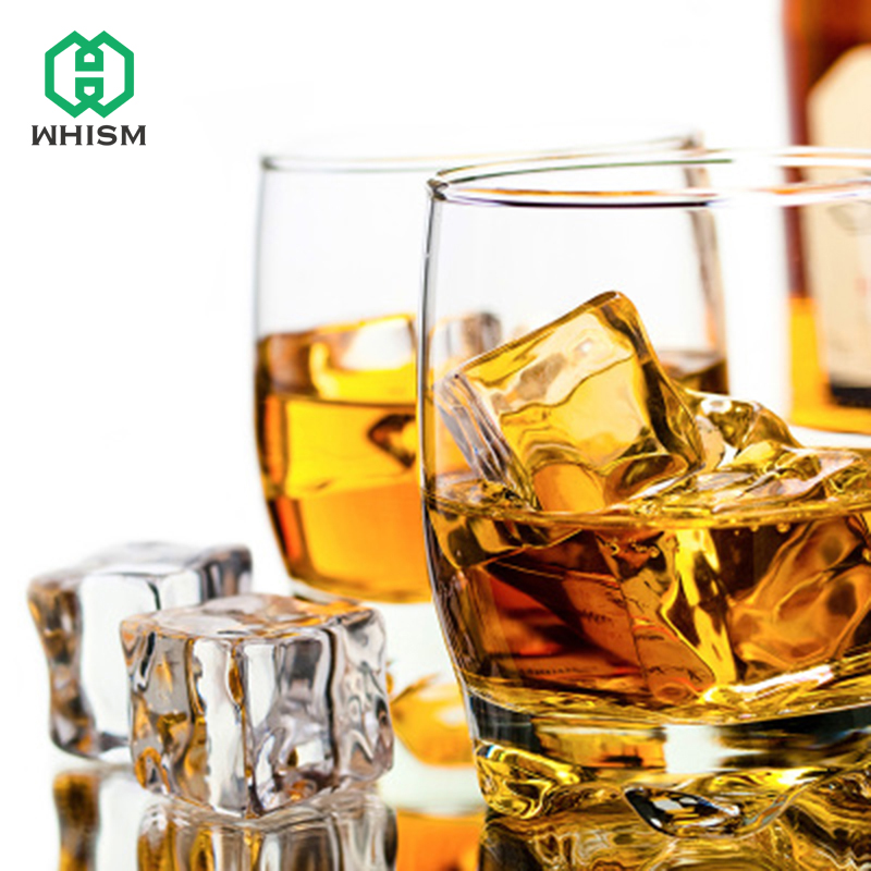 5pcs Artificial Fake Ice Cube Transparent Square Acrylic Synthetic Ice Cube Acrylic Plastic Ice Cube